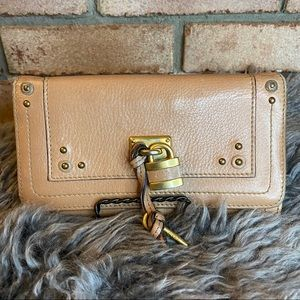 Chloe Paddington Calfskin Long Wallet with Flap